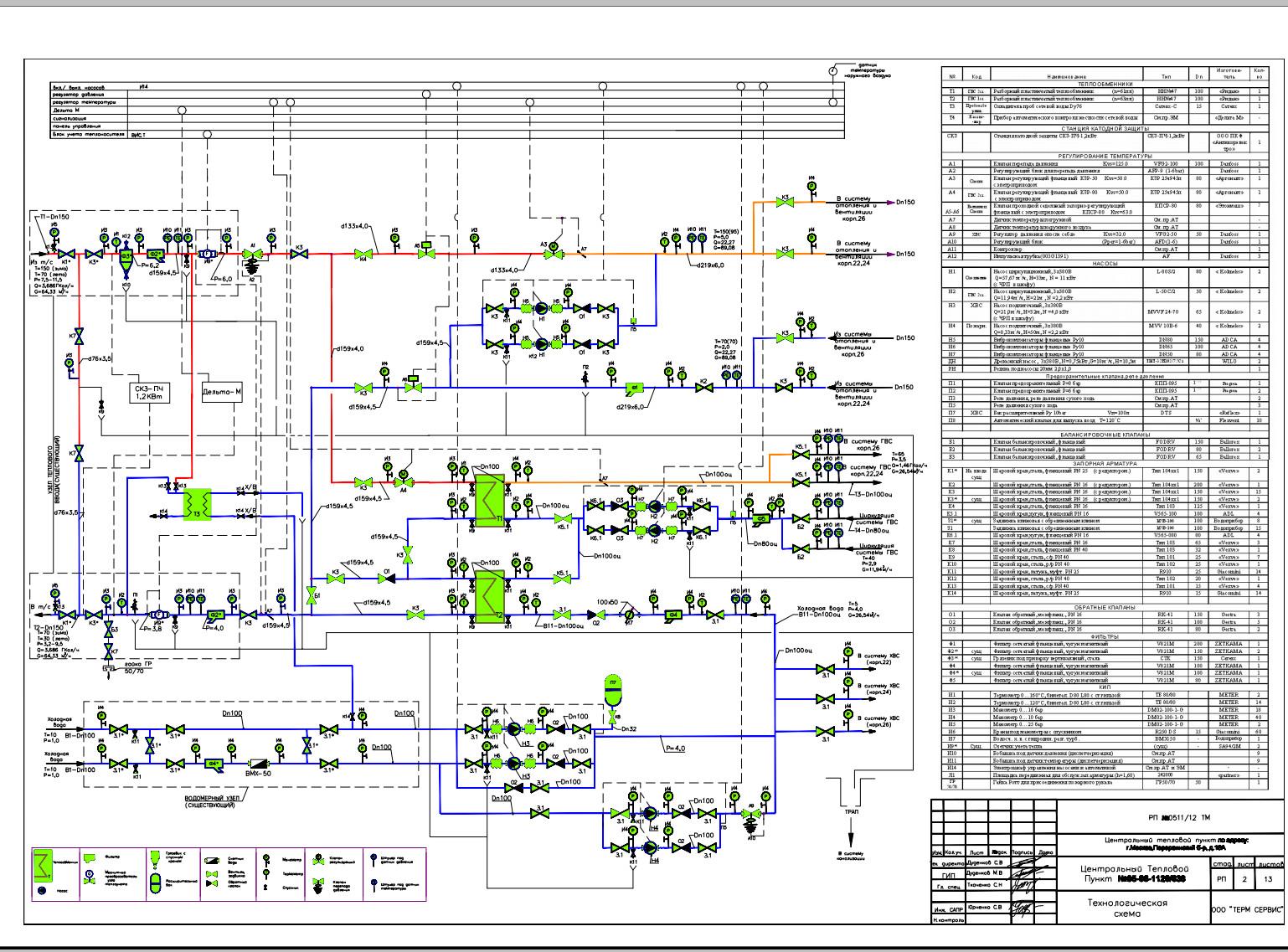 Электрическая схема подключения теплосчетчика тем-104